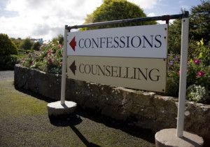 sign to confession and counselling